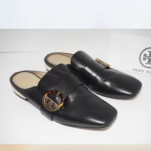 Tory Burch Backless Loafer Flats Slides Mules